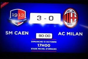 Il y a 7 ans, le Stade Malherbe terrassait le Milan AC…