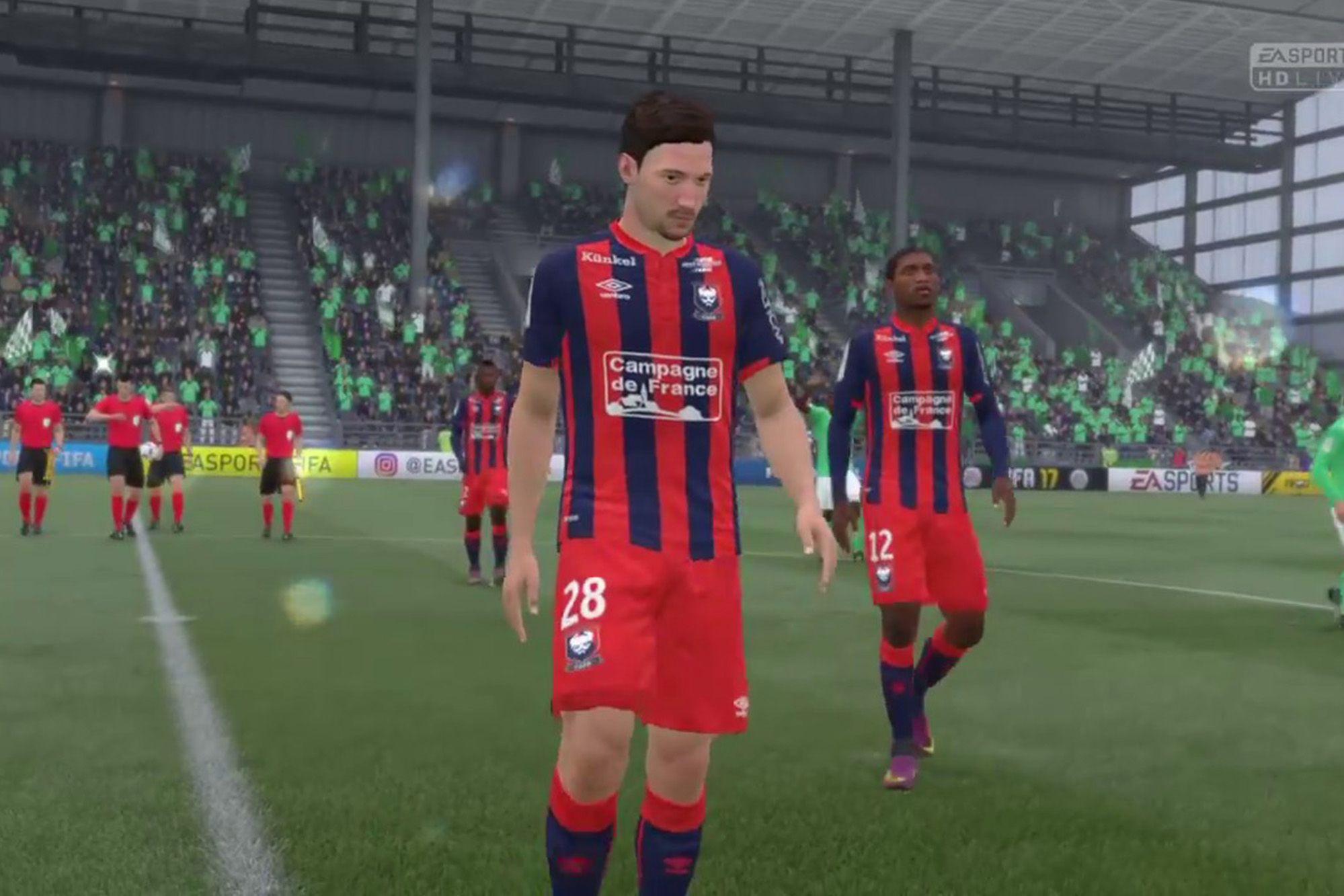 Les notes des joueurs caennais sur FIFA 21