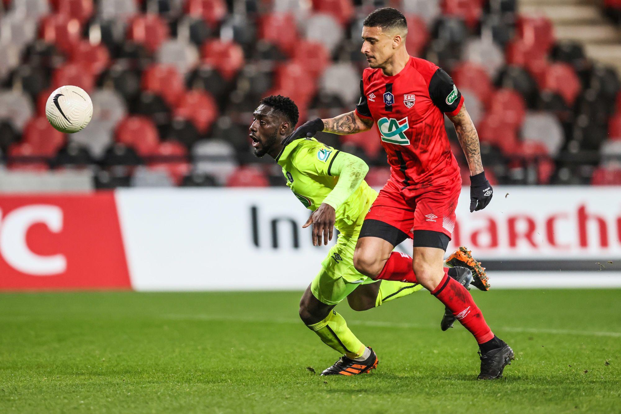 Les statistiques du match nul (2-2) entre Guingamp et Caen