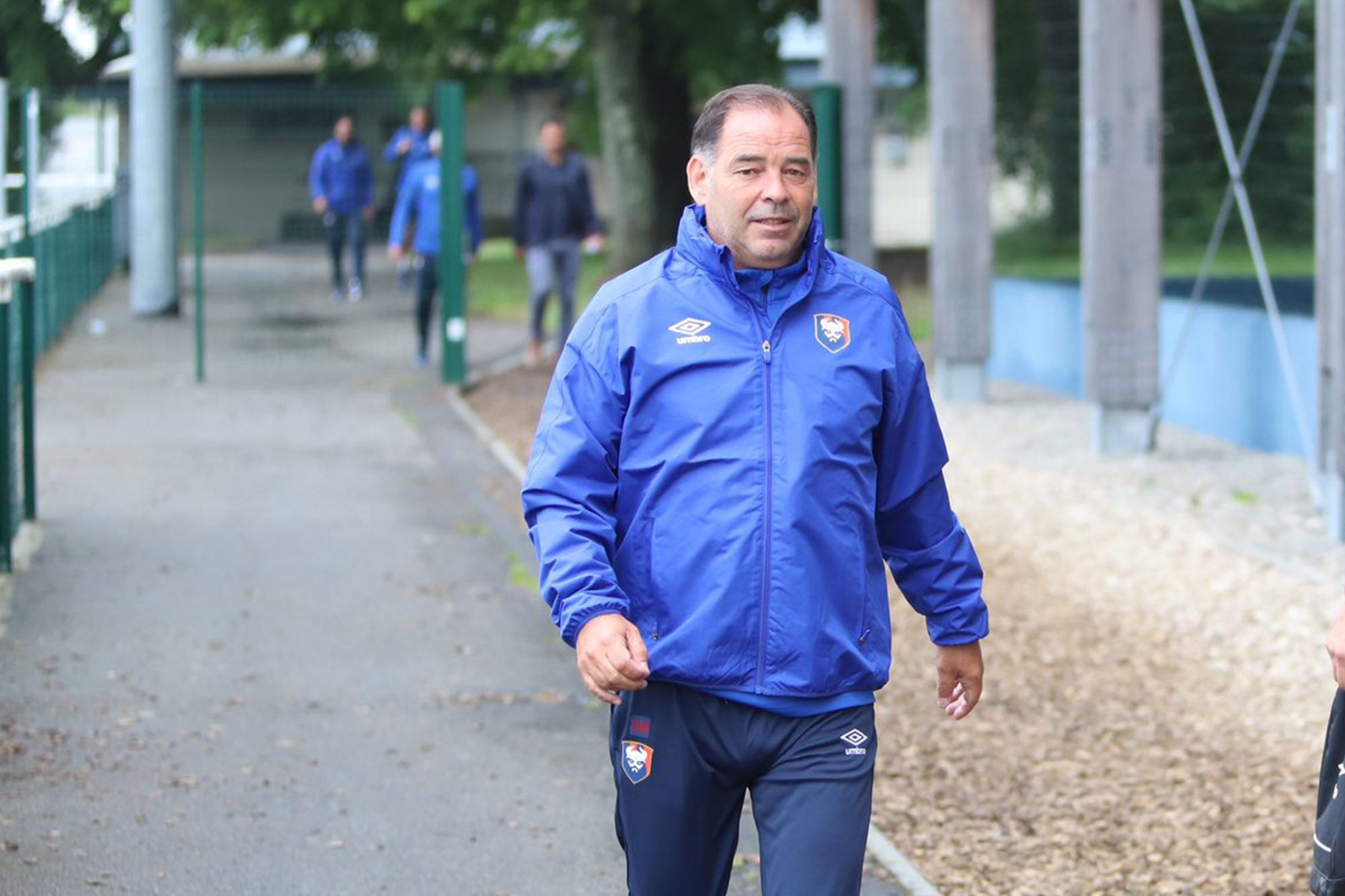Stéphane Moulin a dirigé sa première séance d'entraînement au SM Caen