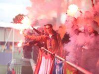 [PHOTOS] Les supporters caennais bouillants avant le derby