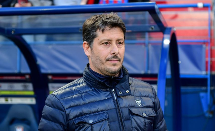 Fabien Mercadal coach of Caen during the Ligue 1 match between Stade Malherbe Caen and FC Girondins de Bordeaux on May 24, 2019 in Caen, France. (Photo by Anthony Dibon/Icon Sport)