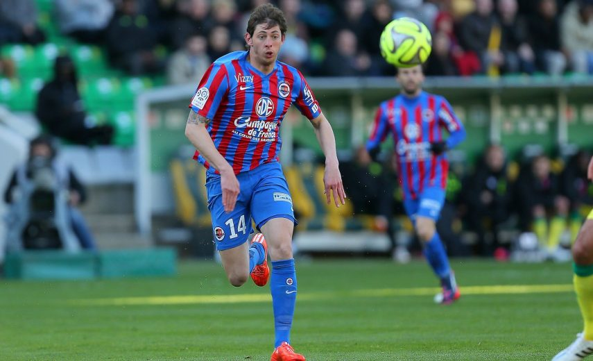 Emiliano SALA - 05.04.2015 - Nantes / Caen - 31eme journee de Ligue 1 Photo